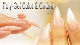 ombre poly gel nails